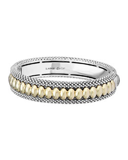 Lagos Hinged Caviar Bangle