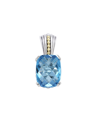 Lagos 18k Blue Topaz Prism Pendant