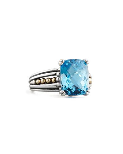 Lagos Blue Topaz Prism Ring