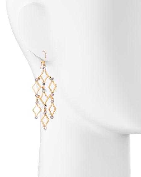 Crystal-Studded Chandelier Earrings