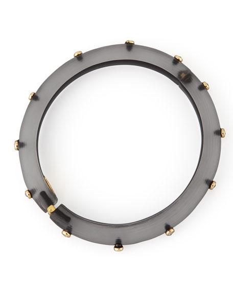 Neo Boho Crystal Rivet Bracelet, Gray