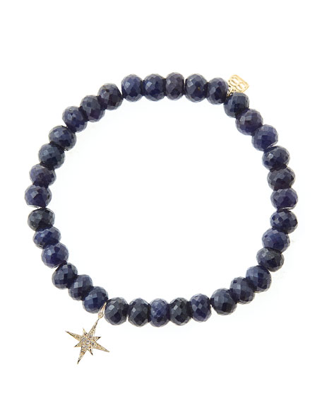 Sydney EvanBlue Sapphire Rondelle Beaded Bracelet with 14k
