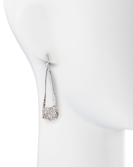 Miss Havisham Crystal-Encrusted Long Silvery Drop Earrings