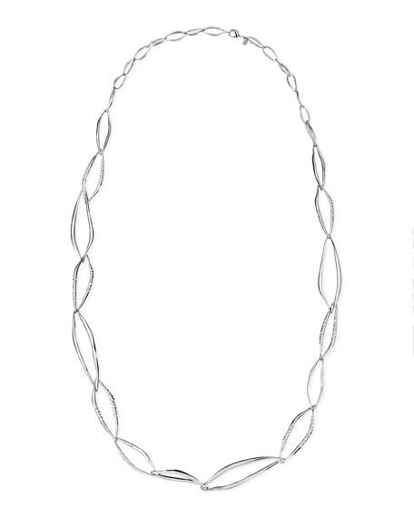 """Miss Havisham Liquid Crystal-Encrusted Infinity-Link Necklace, 42"""""""