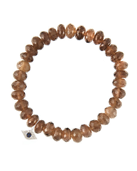 Sydney Evan8mm Faceted Smoky Quartz Beaded Bracelet with