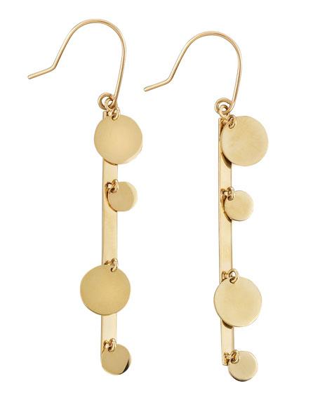 14k Gold Boho Bar Earrings