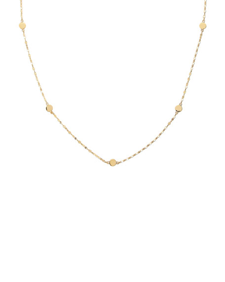 "Disc-Station Layering Necklace, 19.5""L"