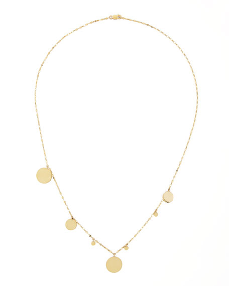 Gypsy 14k Gold Disc-Charm Necklace, 20""