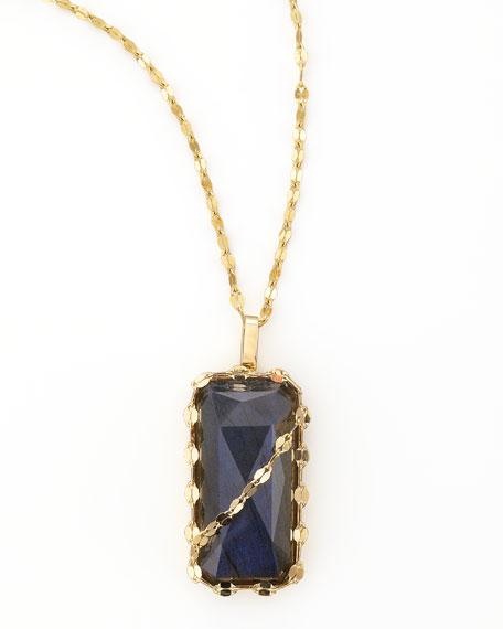 """Labradorite Pendant Necklace, 17""""L"""