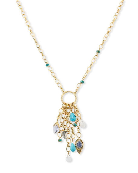 """Elements Crystal Encrusted Feather Pendant Necklace, 32"""""""