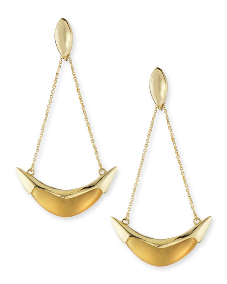 Kinshasa Liquid Metal-Capped Suspended Earrings