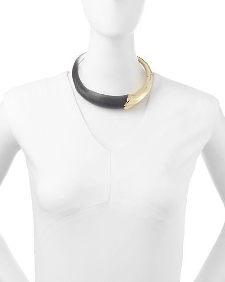 Kinshasa Lucite & Liquid Metal Collar Necklace