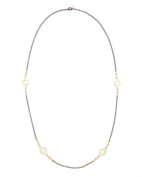 "Long Gold-Station Cable-Chain Necklace, 37""L"