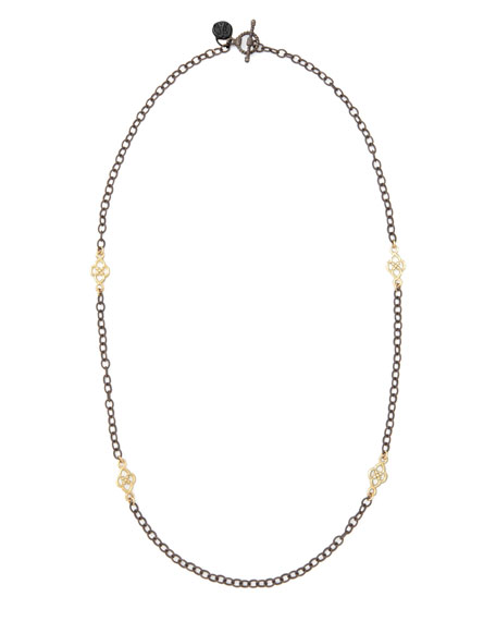 Armenta Short Gold-Station Cable-Chain Necklace, 18