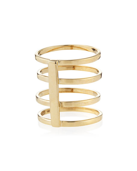 14k Gold Gladiator Multi-Band Ring