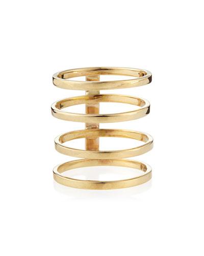 14k Gold Gladiator Multi-Band Ring