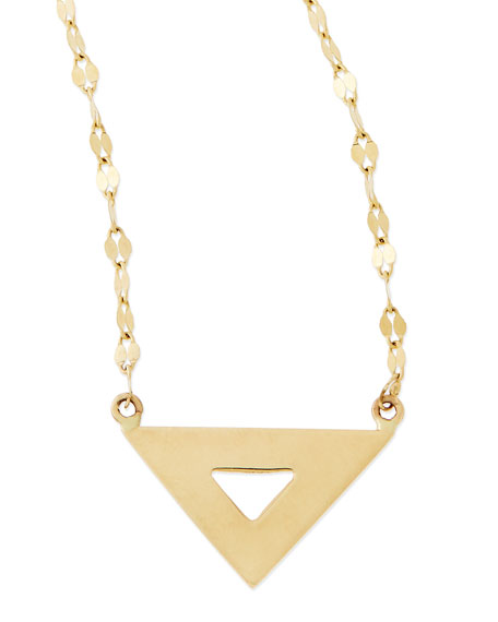 14k Gold Spike Charm Necklace