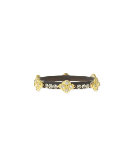 Midnight Diamond Stack Ring, 4mm