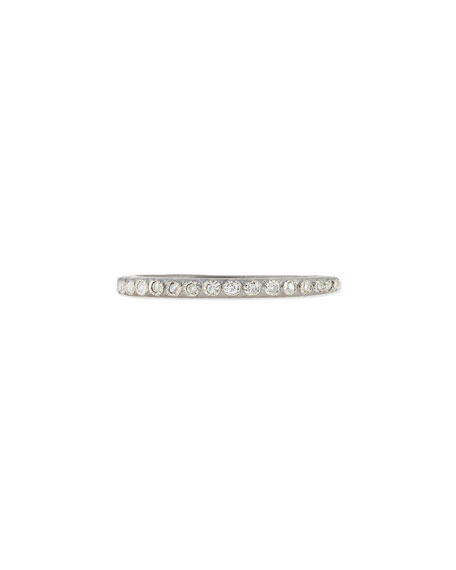 Armenta Pave Diamond Silver Stackable Ring