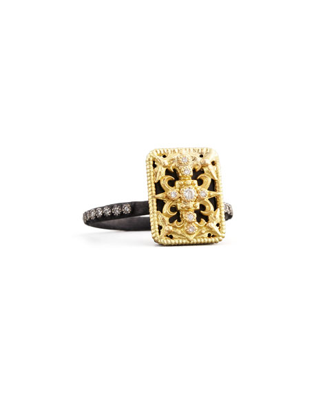 Midnight Small Rectangle Tapestry Ring, Size 6.5