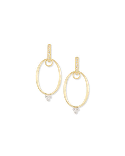 JudeFrances Jewelry White Gold Provence Oval Earring Frames