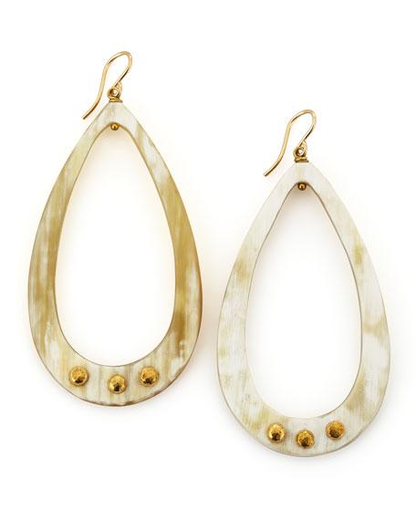 Chozi Light Horn Teardrop Earrings