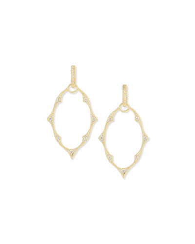 Yellow Gold Moroccan Earring Frames