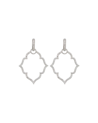 White Gold Michelle Flower Earring Frames