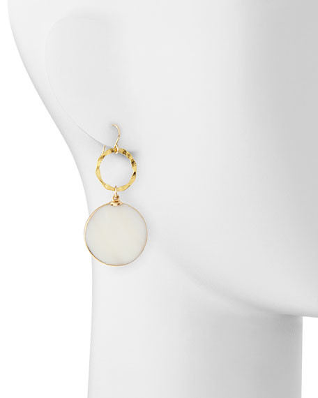 Mother-of-Pearl & Gold Foil Earrings