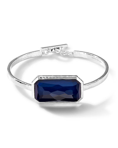 Ippolita Sterling Silver Wonderland Blue Mother-of-Pearl Oval Bangle