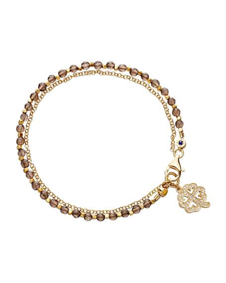 astley clarke four leaf clover friendship bracelet