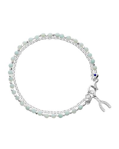 Silver Wishbone Friendship Bracelet