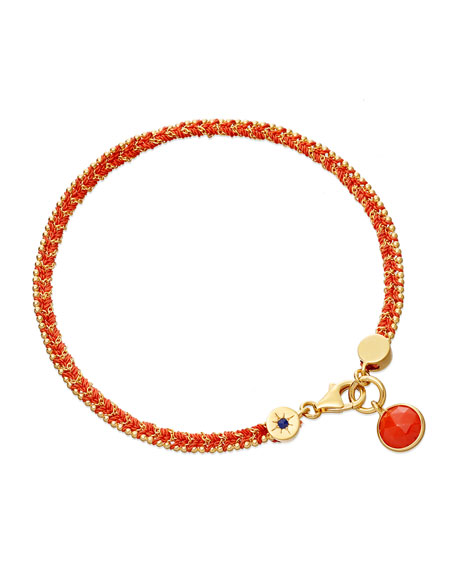 Rebel Rebel Bracelet with Coral