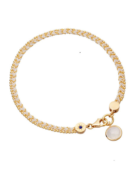 Bowie Bracelet with Moonstone Charm