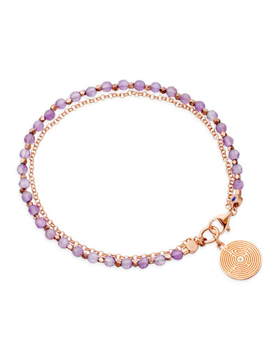 Astley Clarke Amethyst Friendship Bracelet with Labyrinth