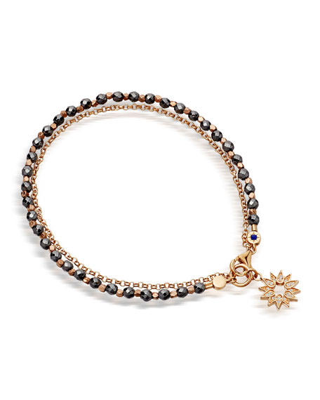 Astley Clarke Rose Gold Vermeil Sun Friendship Bracelet