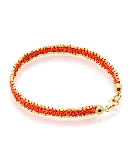 Satellite of Love Nugget Bracelet, Orange