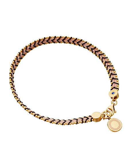 Moonlight Cosmos Dusky Stone Bracelet, Black/Pink