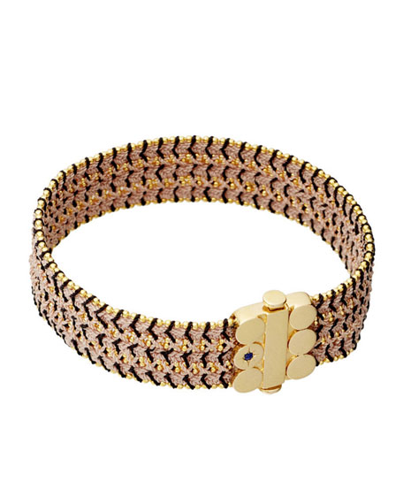 Extra Wide Dusky Stones Woven Bracelet