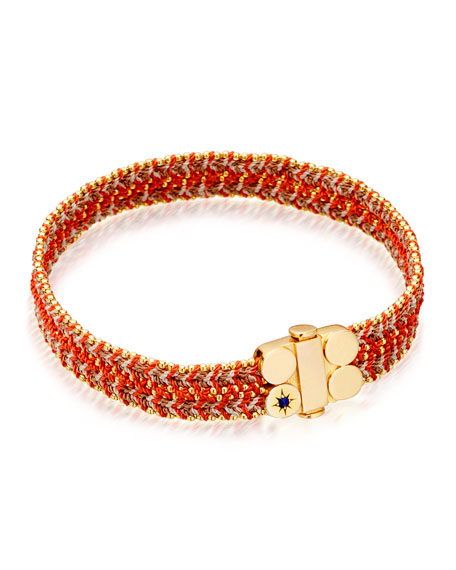Astley Clarke Wide Cajun Shrimp Cosmos Stones Bracelet,