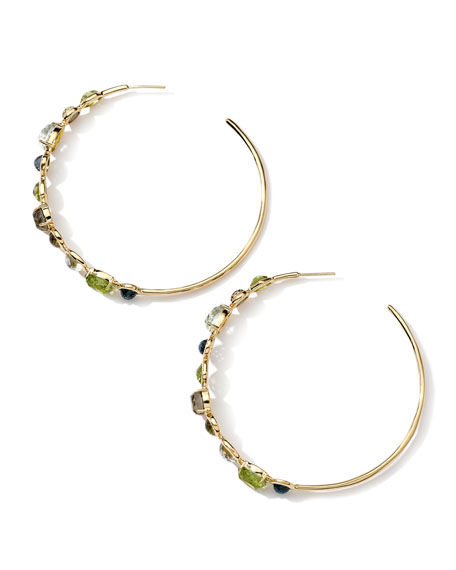 18k Rock Candy Gelato Multi-Stone Hoop Earrings