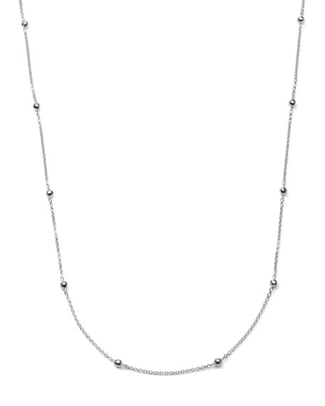 Sterling Silver Mini Hammered Ball Necklace, 50""