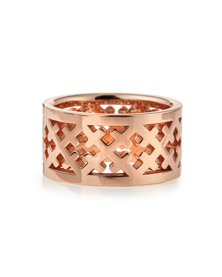 Rose Gold Crosses Band Ring
