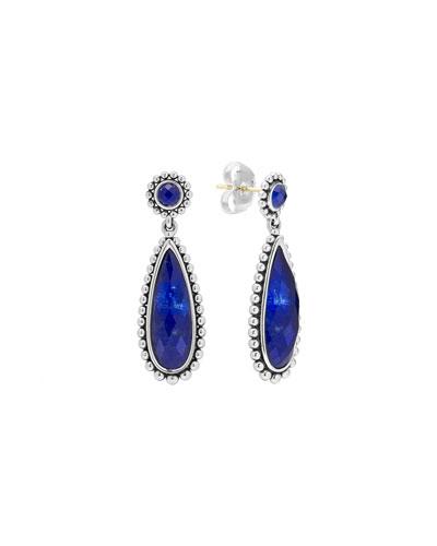 Lagos Silver Maya Lapis Drop Earrings