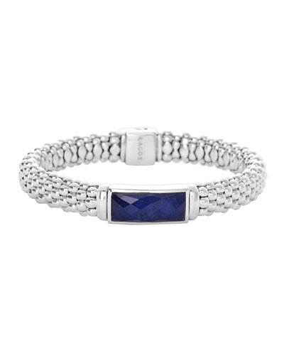 Lagos Silver Maya Lapis Rope Bracelet