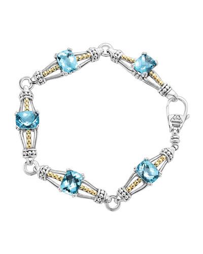 Lagos Blue Topaz Prism Caviar Bracelet