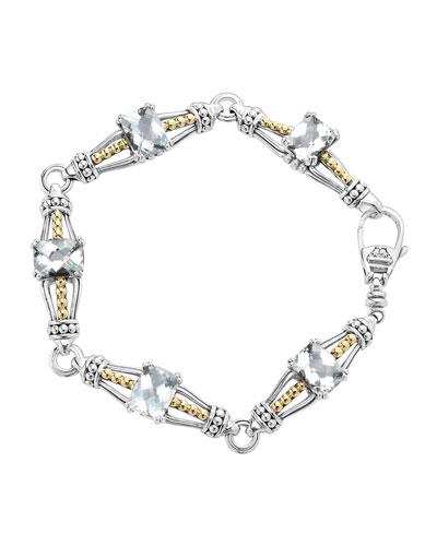 Lagos White Topaz Prism Caviar Bracelet