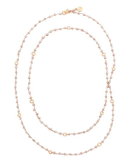 18k Rose Gold Pyrite Mini Buddha Link Necklace
