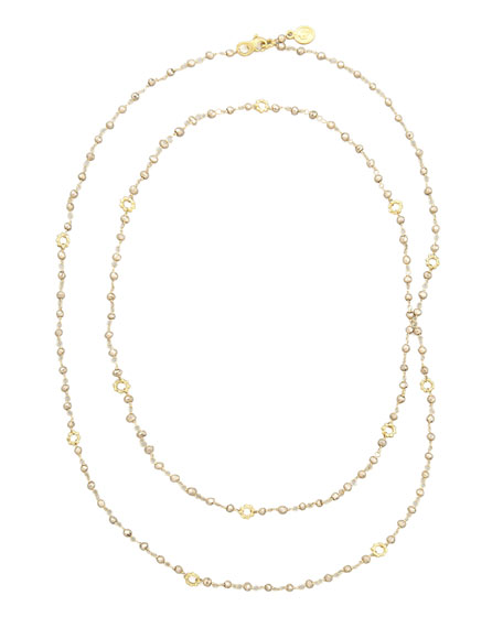 18k Yellow Gold Pyrite Mini Buddha Link Necklace