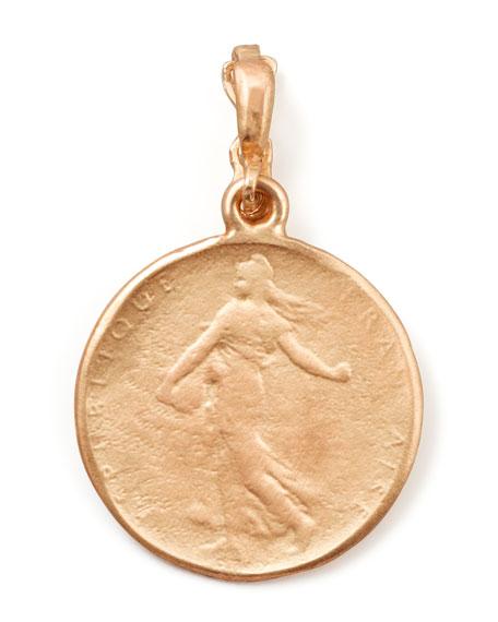 Dominique Cohen 18k Rose Gold Classic Goddess Coin